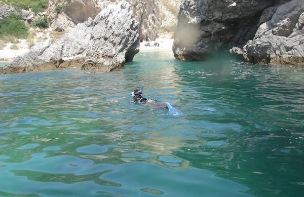 snorkeling in sesimbra