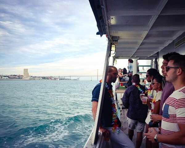 private boat party with DJ Lisbon